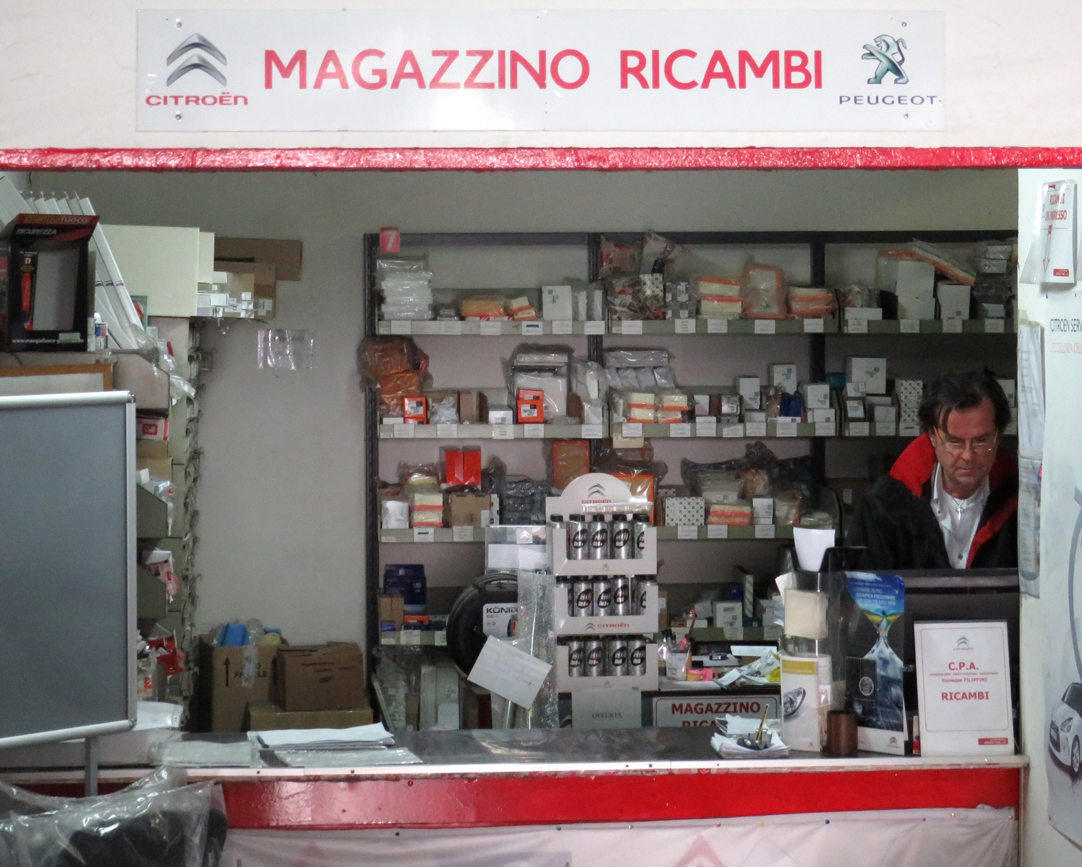 Magazzino Ricambi_Bruno Tibo_Roma